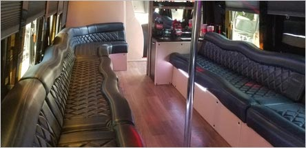 28 Passenger Party Bus Interior Belvedere
