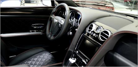 Belvedere Bentley Flying Spur Interior Front