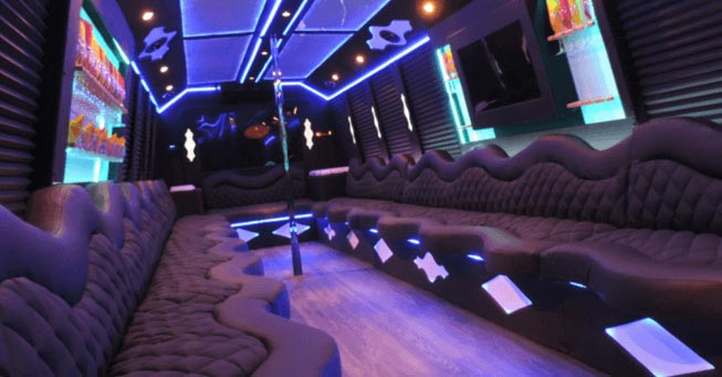 Belvedere 20 Passenger Party Bus Interior