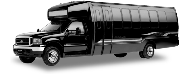 Belvedere 28 Passenger Party Bus Exterior