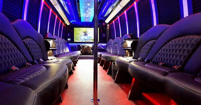 Belvedere 40 Passenger Party Bus Interior